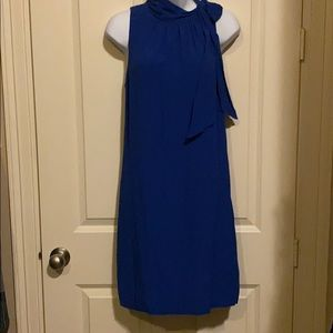 Beautiful royal blue high neck dress by Ann Taylor